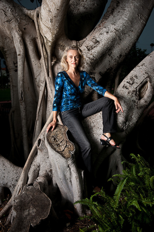 Author Jane Alison photographed near her Miami Beach home for The Observer.