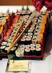 Sushi tray at elegant  Bat Mitzvah at the 65th floor ballroom of the  Mandarin Oriental Hotel.  ..
