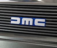BNPS.co.uk (01202 558833)<br /> Pic: PhilYeomans/BNPS<br /> <br /> DeLorean badge.<br /> <br /> Back to the Future...finally!