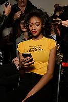 Taoray Wang 10/02/2018<br /> Backstage, New York Fashion Week FW18 <br /> New York Fashion Week,  New York, USA in February 2018.<br /> CAP/GOL<br /> &copy;GOL/Capital Pictures