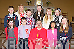 Ballyfinnane NS pupils who were confirmed in St Gobnaits church Keel on Thursday by Canon Michael Fleming with their Principal Claire Foley and teacher Norin Roper front row l-r: Mairead O'Connor, Patrick O'Connor, Anna O'Connor, Ella Teahan. Back row: Ronan Hegarty, Aaron O'Brien, Niamh Quirke, Jasmine Grey and Katelyn Quirke..