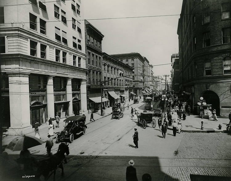 1913.UNDATED..Historical..Looking North of Granby Street from City Hall Avenue.On left - Royster Building just completed.Schwan Building - Withers Building - Nusbaum Building - Brooke Avenue - Tazewell Building - Lenox Building - Carpenter Building..from the Carroll Walker Collection...NEG#.NRHA#..