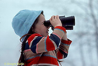 SN04-001z  Sight - child using binoculars to see in distance