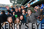 Cliodhna McCarthy, Brid Duggan, Mary McCarthy, Caoimhe Leahy, Catherine Duggan, Back fromleft: Phil Healy, Tony O'Halloran, Mike Leahy and Sean Leahy Ardfert supporters at the Intermediate All Ireland Club Final in Croke Park on Saturday.