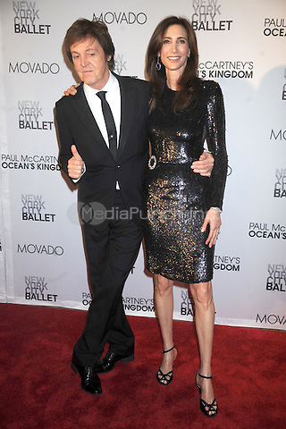 Paul McCartney and Nancy Shevell at the 2011 New York City Ballet Fall Gala at the David Koch Theatre at Lincoln Center on September 22, 2011 in New York City. © mpi01 / MediaPunch Inc.