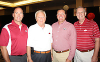 NWA Democrat-Gazette/CARIN SCHOPPMEYER Scott Cain (from left), Warren McDonald, Jerry Duncan and Johnny Runnels help support Razorback football at the kickoff luncheon.