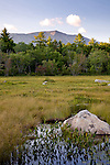 Mount Katahdin towers over the Compass Pond wetlands, Piscataquis County, ME