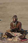 A Vaishnava Sadhu.It was estimated that over 100,000 Sadhus and holy men attended the Maha Kumbha Mela in 1989.Maha Kumbha Mela is held every twelve years at Prayag (Allahabad) in Uttar Pradesh in India.