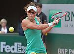 Samantha Stosur (AUS) loses to Maria Sharapova (RUS) 6-3, 6-4 at  Roland Garros being played at Stade Roland Garros in Paris, France on May 29, 2015