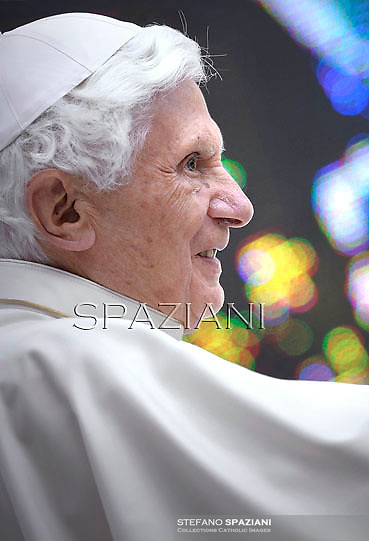 Pope Benedict XVI during his weekly general audience in St. Peter square at the Vatican, Wednesday. 25 April, 2012