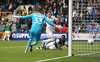 Leeds United's Ezgjan Alioski scores his side's first goal  <br /> <br /> Photographer Rob Newell/CameraSport<br /> <br /> The EFL Sky Bet Championship - Millwall v Leeds United - Saturday 5th October 2019 - The Den - London<br /> <br /> World Copyright © 2019 CameraSport. All rights reserved. 43 Linden Ave. Countesthorpe. Leicester. England. LE8 5PG - Tel: +44 (0) 116 277 4147 - admin@camerasport.com - www.camerasport.com