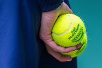 London, England, 7 th July, 2017, Tennis,  Wimbledon, ballboy holding Wimbledon tennis balls <br /> Photo: Henk Koster/tennisimages.com