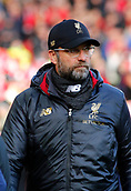 9th February 2019, Anfield, Liverpool, England; EPL Premier League football, Liverpool versus AFC Bournemouth; Liverpool manager Jurgen Klopp before the kick off