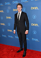 LOS ANGELES, USA. January 25, 2020: George MacKay at the 72nd Annual Directors Guild Awards at the Ritz-Carlton Hotel.<br /> Picture: Paul Smith/Featureflash