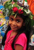San Jao Festival celebrated in Siolim village in Goa with flower head wreaths, boat races and well-jumping feats, Siolim, Goa, India