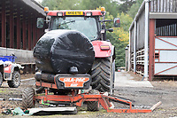Wrapping bales of silage <br /> &copy;Tim Scrivener Photographer 07850 303986<br />      ....Covering Agriculture In The UK....