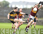 Currow's Dan O'Shea in action during the St Josephs Milltown V Currow Munster Intermediate Club football semi final at Milltown Malbay on Sunday. Photograph by Eamon Ward