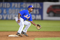 Troy Dixon (2) of UMS-Wright High School in Mobile, Alabama playing for the New York Mets scout team during the East Coast Pro Showcase on July 31, 2014 at NBT Bank Stadium in Syracuse, New York.  (Mike Janes/Four Seam Images)