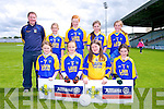 Tiernaboul National School Pictured Pictured front l-r  Erin Holland, Caoimhe Cloffer, Bertha Howe, Mairead O'Donoghue, Back l-r Conor Gleeson (Teacher), Grainne Spillane, Megan Cronin, Emma Cronin, Orla Spillane at the Allianz Cumann Na mBunscol Girls finals at Austin Stacks Park Tralee on Tuesday
