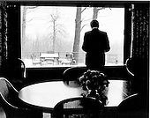 United States President Richard M. Nixon is photographed during a pensive moment at Camp David, the presidential retreat near Thurmont, Maryland on November 22, 1972.<br /> Credit: White House via CNP