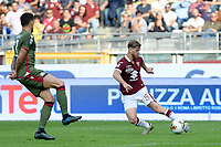 27th October 2019; Olympic Grande Torino Stadium, Turin, Piedmont, Italy; Serie A Football, Torino versus Cagliari; Cristian Ansaldi of Torino FC crosses the ball into the box - Editorial Use