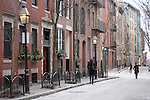 A street in Beacon Hill in Boston, MA.
