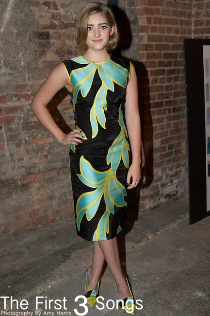 Willow Shields poses backstage at the Christian Siriano fashion show during Mercedes-Benz Fashion Week Spring 2015 at Eyebeam on September 6, 2014 in New York City.