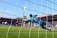 Joshua King of AFC Bournemouth scores a penalty past Rui Patrício of Wolverhampton Wanderers for the first goal during AFC Bournemouth vs Wolverhampton Wanderers, Premier League Football at the Vitality Stadium on 23rd February 2019