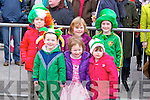 COULOURFUL: Very colourful in their fancy dress at the Kilflynn St Patrick Day Parade on Monday Front l-r: Stephen Shanahan, Edel Costello and Christina O'Connor. Back l-r: Ben O'Connor, Ciara Costello and Ella Burke.