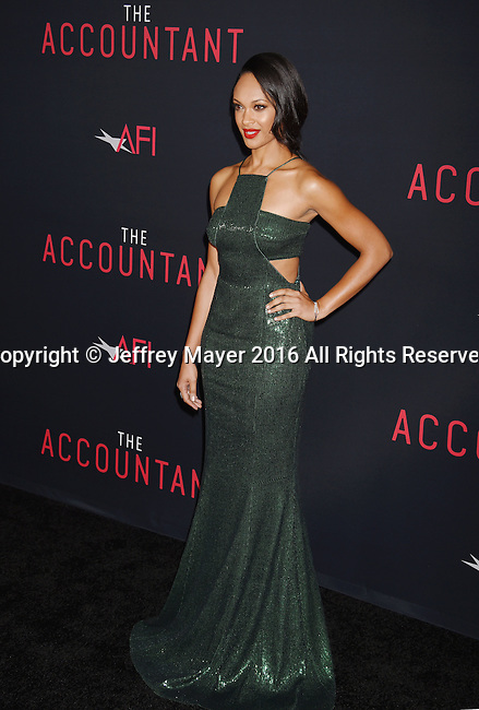 HOLLYWOOD, CA - OCTOBER 10: Actress Cynthia Addai-Robinson arrives at the premiere of Warner Bros Pictures' 'The Accountant' at TCL Chinese Theatre on October 10, 2016 in Hollywood, California.
