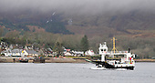 The Corran Ferry at the pier at Nether Lochaber in the Scottish Highlands, completing the short crossing from Ardgour - Highland Council, who run the service, voted to raise fares by about 2% after public pressure forced a u-turn from a proposed 13% increase to the current £8 one-way fare levied for the 500m crossing - see story - picture by Donald MacLeod 12.3.15 clanmacleod@btinternet.com www.donald-macleod.com