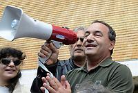 Mimmo Lucano alla Sapienza, presidio antifascista