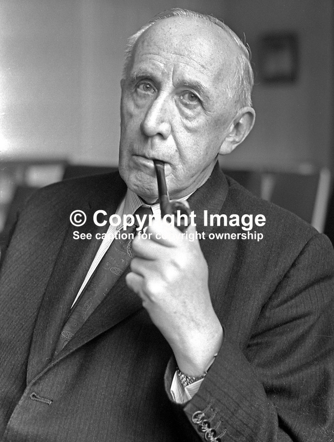 Mr GB Newe, secretary, N Ireland Council of Social Services, a prominent Roman Catholic layman and an an Ulster Unionist. He later became a Minister of State in the Department of the Prime Minister of Northern Ireland. He was the only Roman Catholic ever to hold a post in an Ulster Unionist government. 197001000074<br /> <br /> Copyright Image from Victor Patterson, 54 Dorchester Park, Belfast, UK, BT9 6RJ<br /> <br /> Tel: +44 28 9066 1296<br /> Mob: +44 7802 353836<br /> Voicemail +44 20 8816 7153<br /> Skype: victorpattersonbelfast<br /> Email: victor@victorpatterson.com<br /> Email: victorpatterson@me.com (back-up)<br /> <br /> IMPORTANT: If you wish to use this image or any other of my images please go to www.victorpatterson.com and click on the Terms &amp; Conditions. Then contact me by email or phone with the reference number(s) of the image(s) concerned.