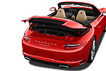 Car Stock 2018 Porsche 911 Carrera 2 Door Convertible Engine  high angle detail view