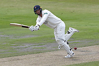 Jordan Clark in batting action for Lancashire during Lancashire CCC vs Essex CCC, Specsavers County Championship Division 1 Cricket at Emirates Old Trafford on 9th June 2018