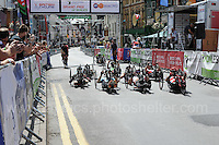 The competitors prepare for the start during the Abergavenny Festival of Cycling &quot;Para Grand Prix of Wales&quot; race on Sunday 17th 2016<br /> <br /> <br /> Jeff Thomas Photography -  www.jaypics.photoshelter.com - <br /> e-mail swansea1001@hotmail.co.uk -<br /> Mob: 07837 386244 -