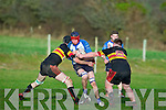 Tralee's Ronan O'Sullivan tries to get passed the Old Christians defence at O'Dowd park, Tralee on Saturday.