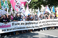 September 21 2017, PARIS FRANCE<br /> Demonstration against the Reform of<br /> Labour Law organized by the CGT Union<br /> whose leader is Philippe Martinez. # MANIFESTATION CONTRE LA LOI TRAVAIL EN FRANCE ANTI