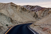Artists Drive and Artists Palette in Death Valley National Park offer spectacular colors in the volcanic and other rock and mineral deposits.
