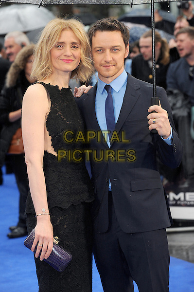 LONDON, ENGLAND - MAY 12:  Anne-Marie Duff and James McAvoy attend the UK Premiere of X-Men: Days Of Future Past at the Odeon Leicester Square on May 12, 2014 in London, England<br /> CAP/BEL<br /> &copy;Tom Belcher/Capital Pictures