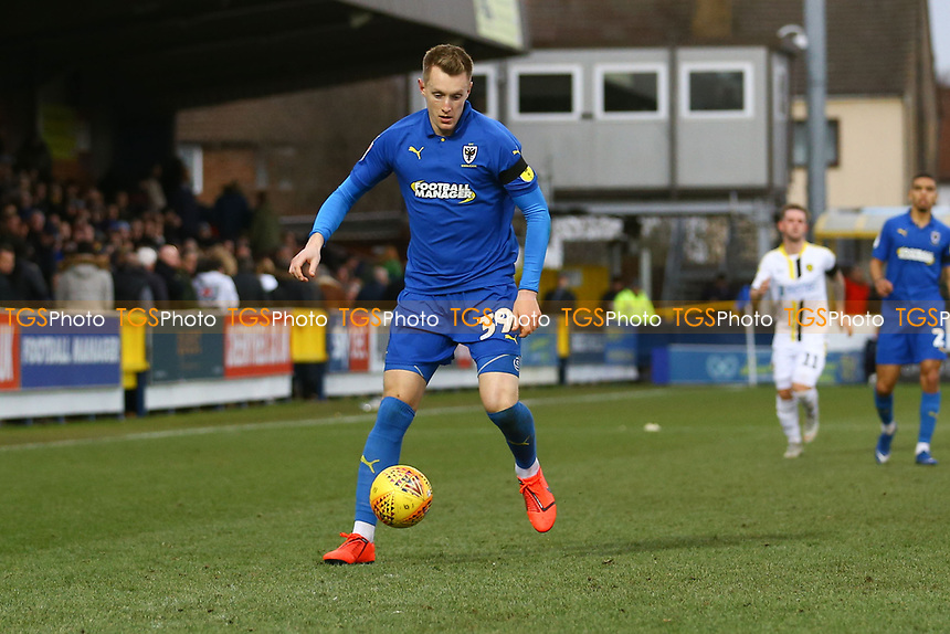 Joe Pigott of AFC Wimbledon during AFC Wimbledon vs Burton Albion, Sky Bet EFL League 1 Football at the Cherry Red Records Stadium on 9th February 2019