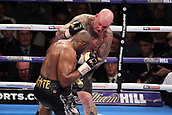 24th March 2018, O2 Arena, London, England; Matchroom Boxing, WBC Silver Heavyweight Title, Dillian Whyte versus Lucas Browne; Lucas Browne attacks Dillian Whyte against the ropes during the fight