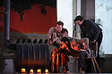 London, UK. 14.10.2015. English National Opera presents, in a co-production with Dutch National Opera, Amsterdam, Puccini's LA BOHEME, at the London Coliseum. Picture shows: Duncan Rock (Marcello), Nicholas Masters (Colline), Zach Borichevsky (Rodolfo).  Photograph © Jane Hobson.