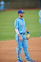 Brandon Lewis (47) of the Ogden Raptors during the game against the Rocky Mountain Vibes at Lindquist Field on July 4, 2019 in Ogden, Utah. The Raptors defeated the Vibes 4-2. (Stephen Smith/Four Seam Images)