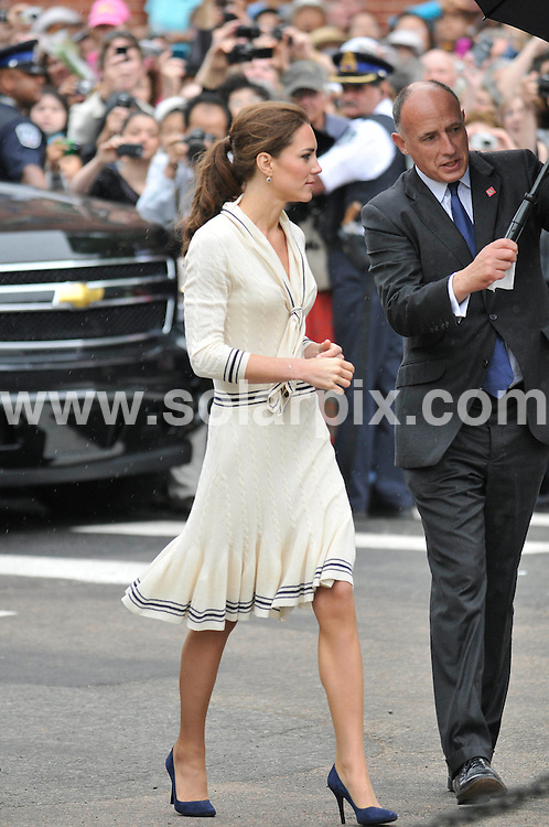 **ALL ROUND PICTURES FROM SOLARPIX.COM**                                             **WORLDWIDE SYNDICATION RIGHTS**                                                                                  Caption: Prince William and Princess Catherine, aka Kate Middleton, The Duke and Duchess of Cambridge, leaving the Provence house, Prince Edward Island, during their Royal Tour of Canada. 4 July 2011                                                                              This pic: Prince William and Princess Catherine                                                                                             JOB REF: 13672 MSR       DATE:  04_07_2011                                                          **MUST CREDIT SOLARPIX.COM OR DOUBLE FEE WILL BE CHARGED**                                                                      **MUST AGREE FEE BEFORE ONLINE USAGE**                               **CALL US ON: +34 952 811 768 or LOW RATE FROM UK 0844 617 7637**
