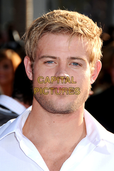 "TREVOR DONOVAN .""Iron Man 2"" World Premiere held at the El Capitan Theatre, Hollywood, California, USA, 26th April 2010..arrivals portrait headshot white shirt beard stubble facial hair .CAP/ADM/BP.©Byron Purvis/AdMedia/Capital Pictures."