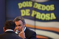 """OSASCO, SP, 23 DE MAIO DE 2013 - AÉCIO NEVES NO PROGRAMA DO RATINHO: O Senador e Presidente do PSDB Aécio Neves participou do quadro """"Dedo de Prosa"""" no Programa do Ratinho na noite desta quinta feira (23) na sede do SBT em Osasco. (FOTO: LEVI BIANCO / BRAZIL PHOTO PRESS)."""