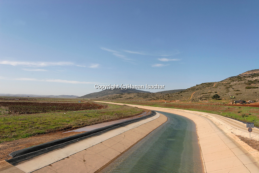 Israel, the Lower Galilee. The National Water Carrier in Beth Natofa valley.