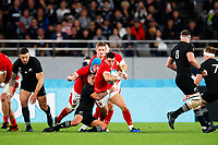 1st November 2019, Tokyo, Japan;  Owen Watkin (WAL) breaks into open field running;  2019 Rugby World Cup 3rd place match between New Zealand 40-17 Wales at Tokyo Stadium in Tokyo, Japan.  - Editorial Use
