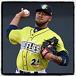 No. 7 MLB.com New York #Mets prospect Simeon Woods-Richardson (21) of the Columbia Fireflies pitched 1.2 innings and struck out four in his Class A debut on Thursday, April 4, 2019, at Segra Park in Columbia, South Carolina. Charleston won, 2-1. (Tom Priddy/Four Seam Images)